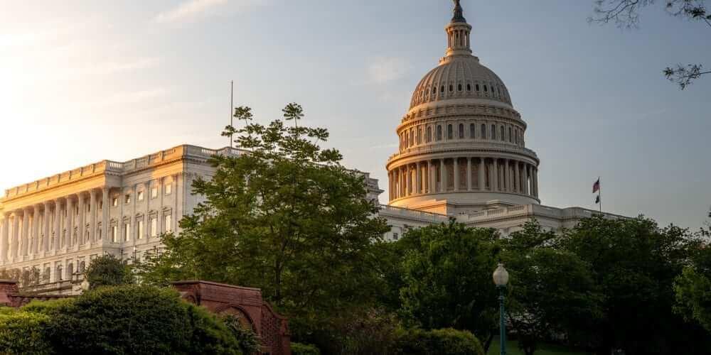 Sunrise at the US Capitol in Washington DC